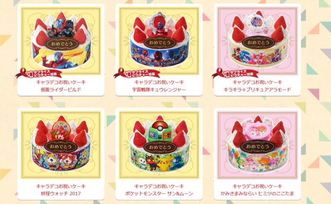 子供 誕生日ケーキ キャラデコ バンダイ