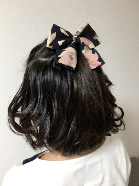 園 髪型 子供 式 卒